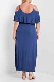 MaiTai Blue Flutter Maxi Dress - Side cropped