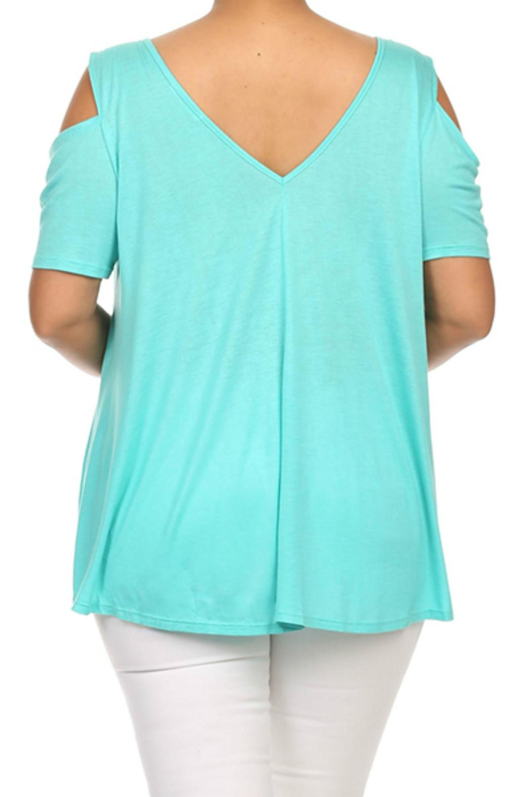 MaiTai Cold Shoulder Top - Side Cropped Image