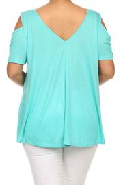 MaiTai Cold Shoulder Top - Side cropped