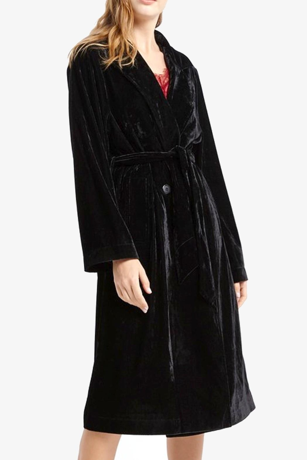 MaiTai Deluxe Velvet Trench - Front Cropped Image