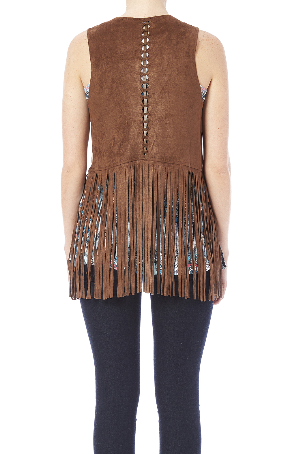 Maitai Faux Suede Fringe Vest From Honolulu By Cookie S Clothing Co Shoptiques