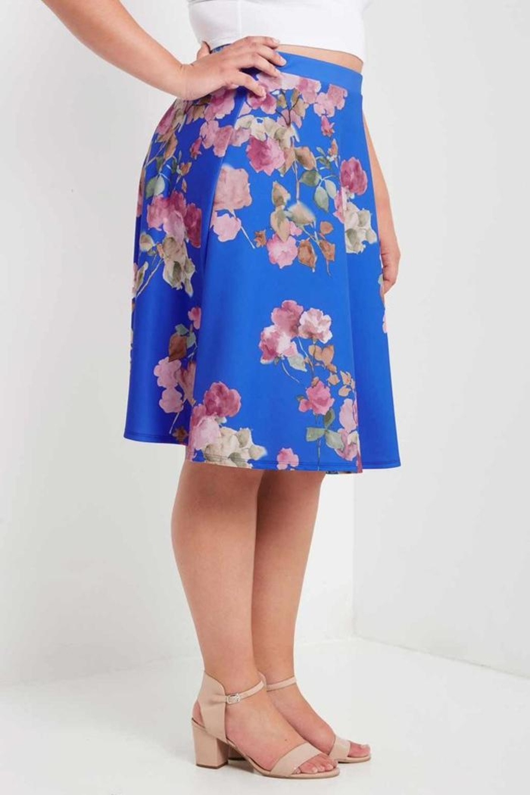 MaiTai Floral A-Line Skirt - Side Cropped Image
