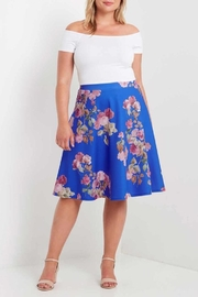 MaiTai Floral A-Line Skirt - Front cropped