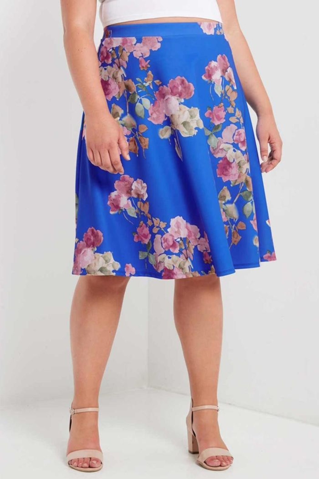 MaiTai Floral A-Line Skirt - Front Full Image