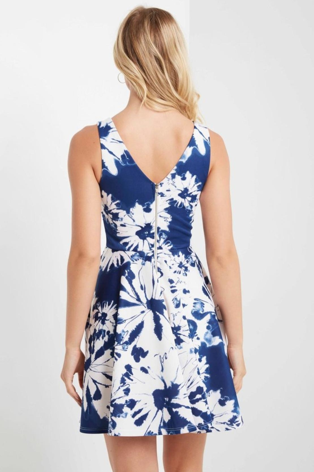 MaiTai Floral Fit/Flare Dress - Front Full Image
