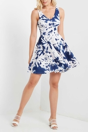 MaiTai Floral Fit/Flare Dress - Front cropped