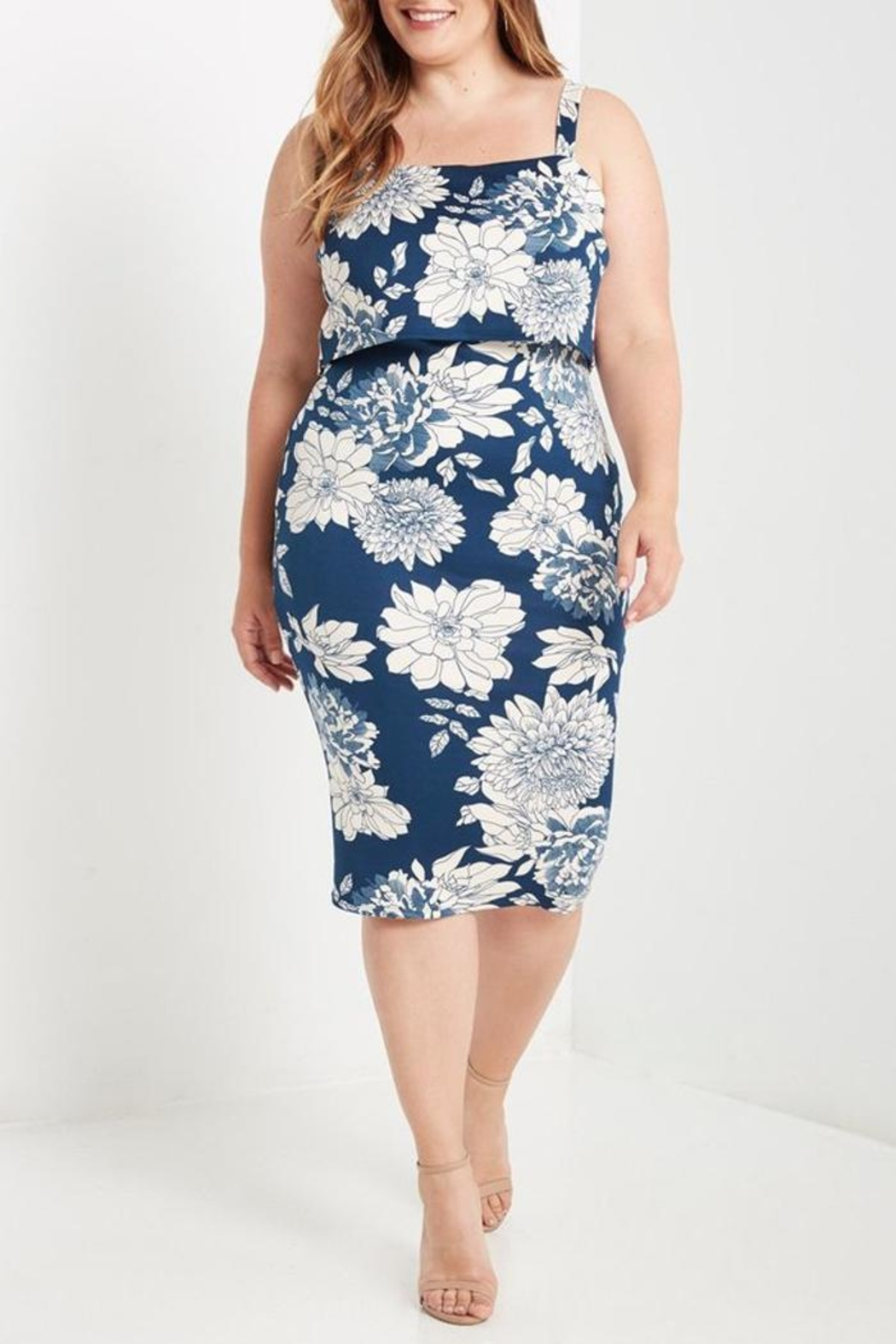 MaiTai Floral Midi Dress - Main Image