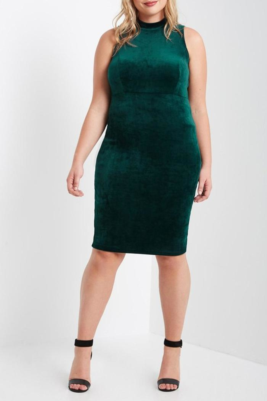 MaiTai Green Velvet Dress - Main Image