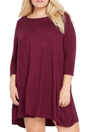 MaiTai Maroon Swing Dress - Front cropped