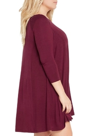 MaiTai Maroon Swing Dress - Front full body