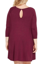 MaiTai Maroon Swing Dress - Side cropped