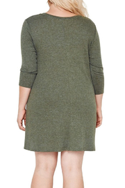 MaiTai Olive Ribbed Dress - Front full body