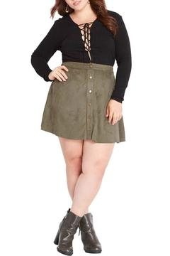 Shoptiques Product: Olive Suede Skirt