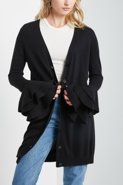 Shoptiques Product: Ruffle Bell-Sleeve Cardigan