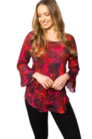 Sno Skins Majestic Crinkle Blouse - Side cropped