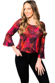 Sno Skins Majestic Crinkle Blouse - Front cropped