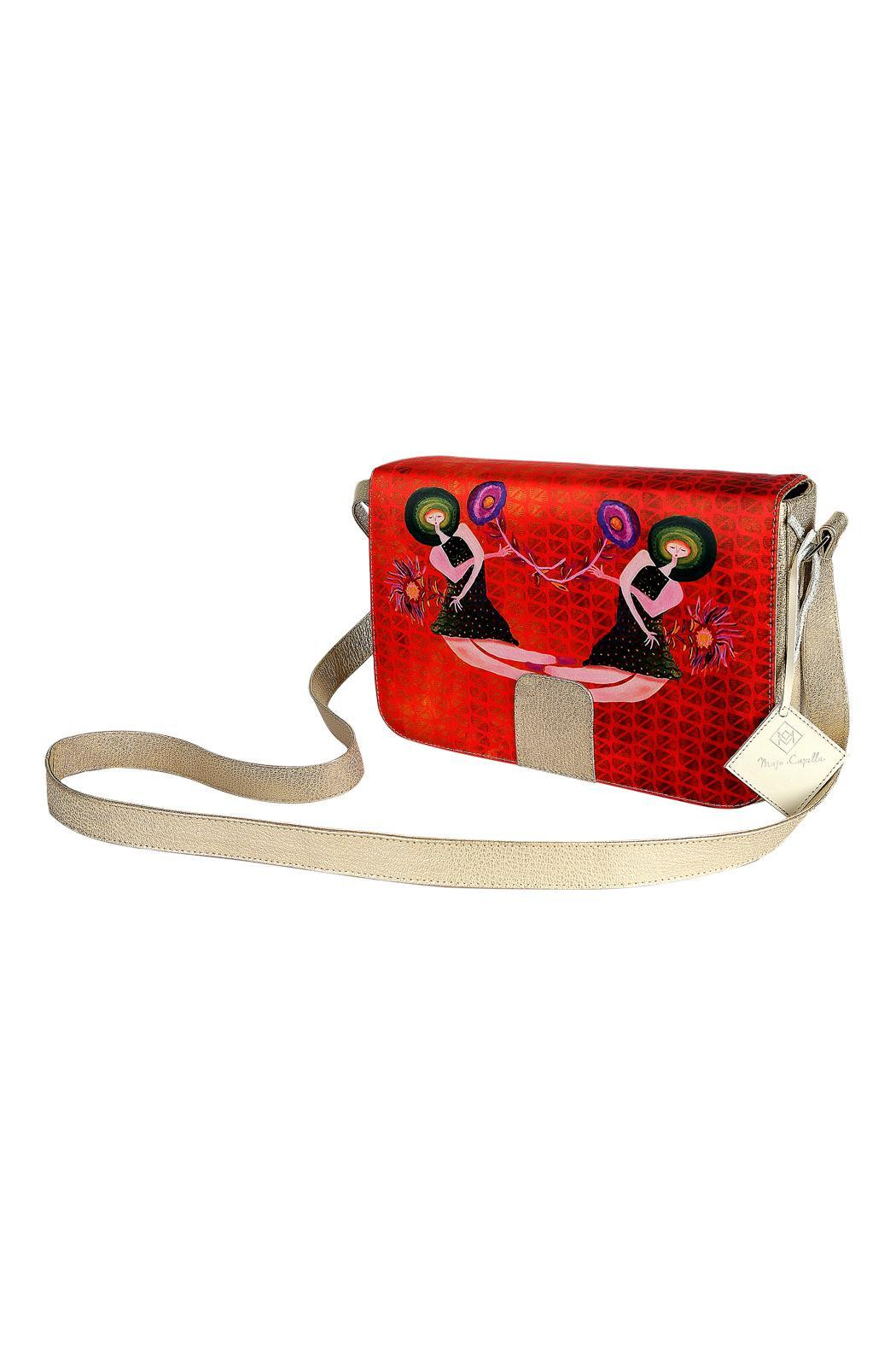 Majo Capella Leather Bag - Front Cropped Image
