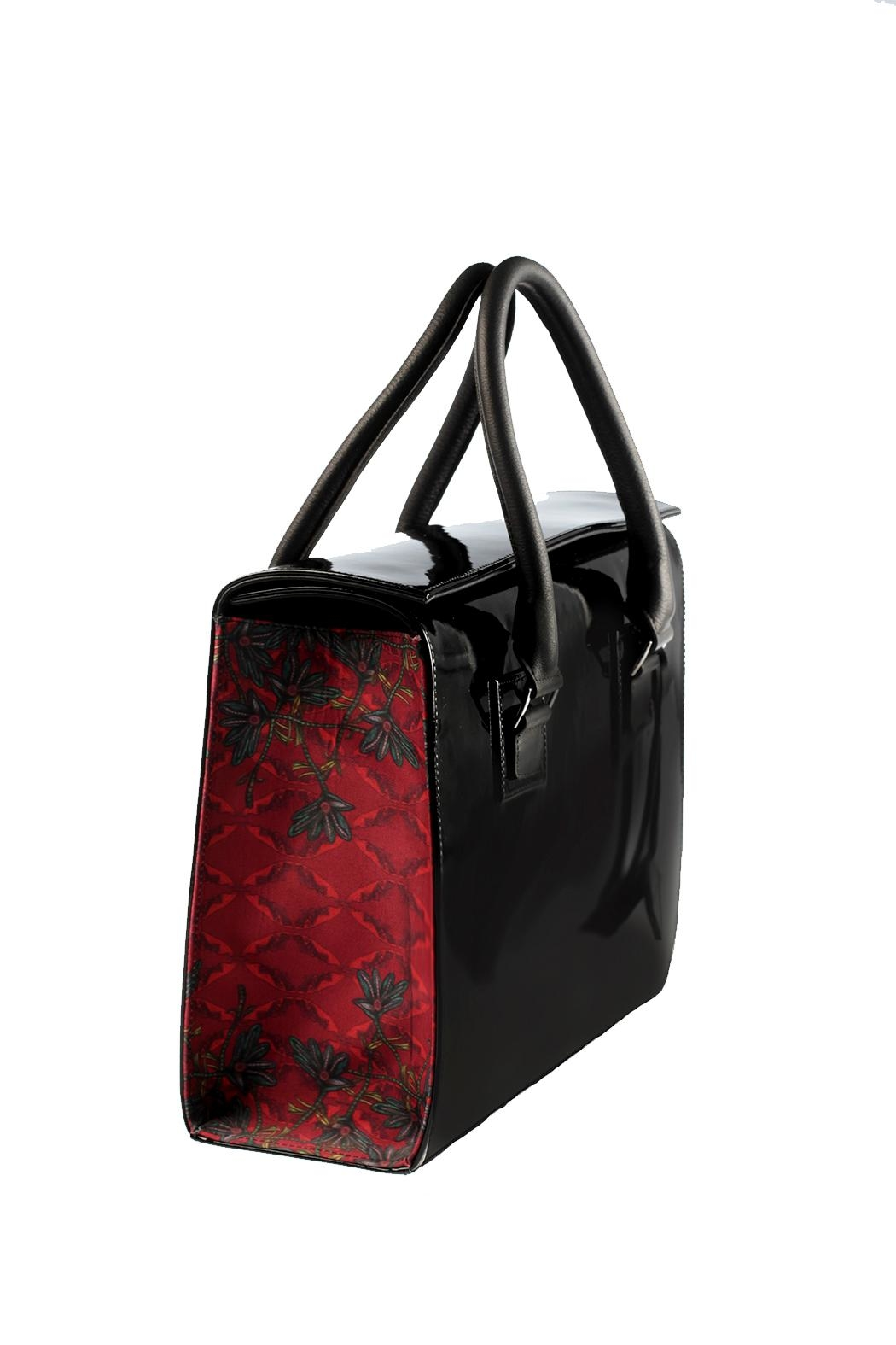 Majo Capella Patent Leather  Bag - Front Full Image