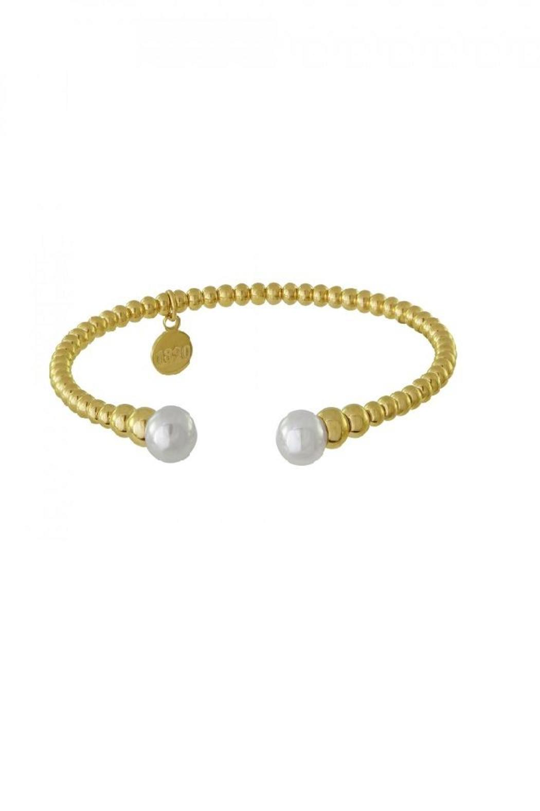 Majorica Gold Pearl Bangle - Main Image