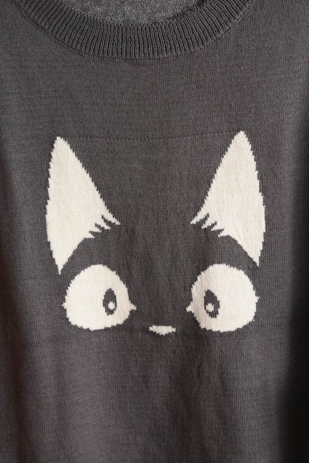 MAK Meow Cat Sweater - Front Cropped Image