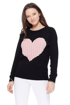 Shoptiques Product: Pink Heart Sweater