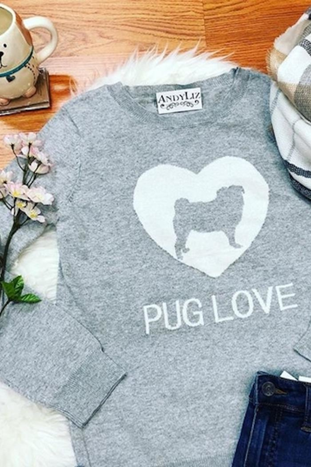 MAK Pug Love Sweater - Main Image