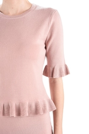 MAK Ruffle Sweater Top - Front full body