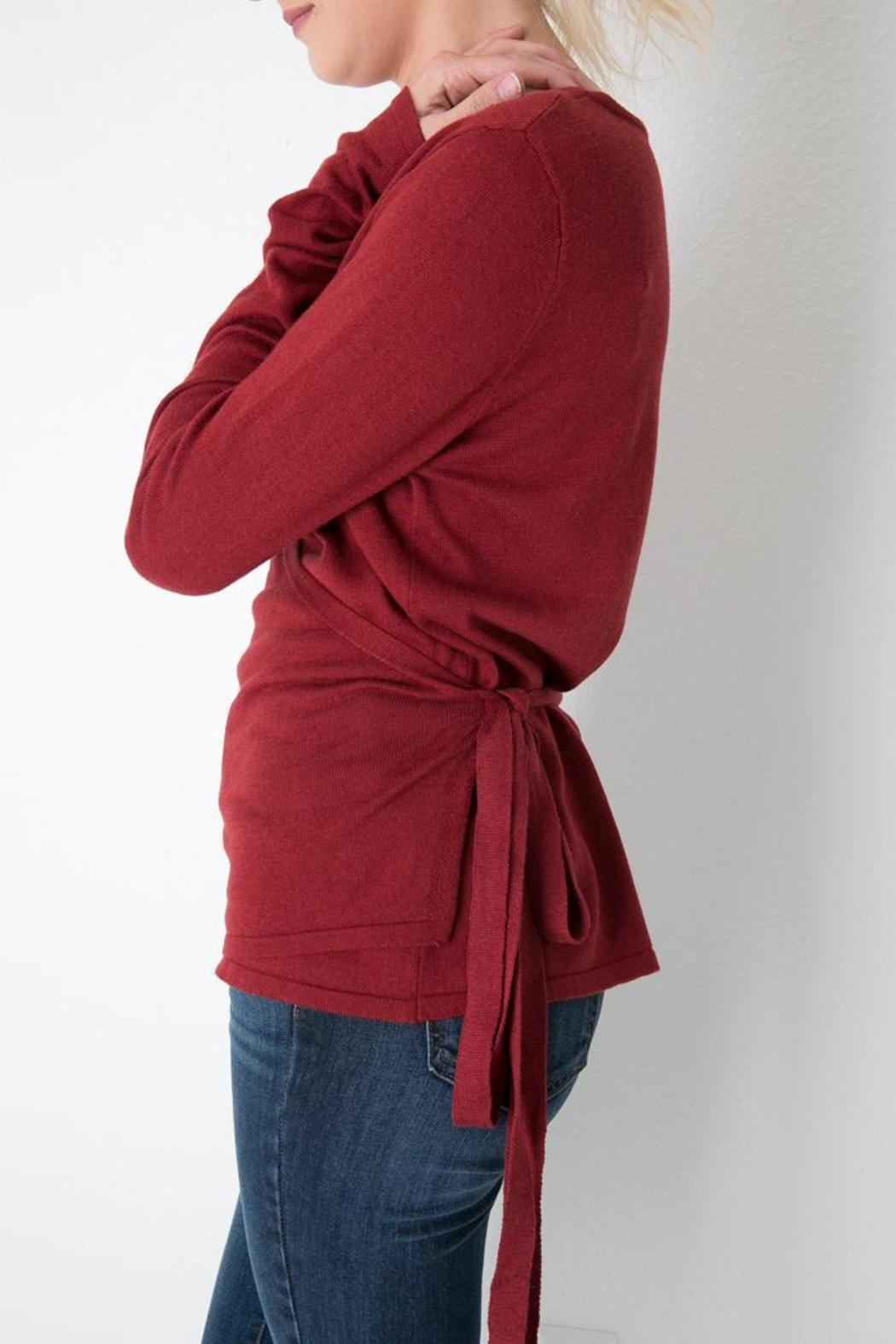 MAK Side-Tie Wrap Sweater from Colorado by Apricot Lane ...