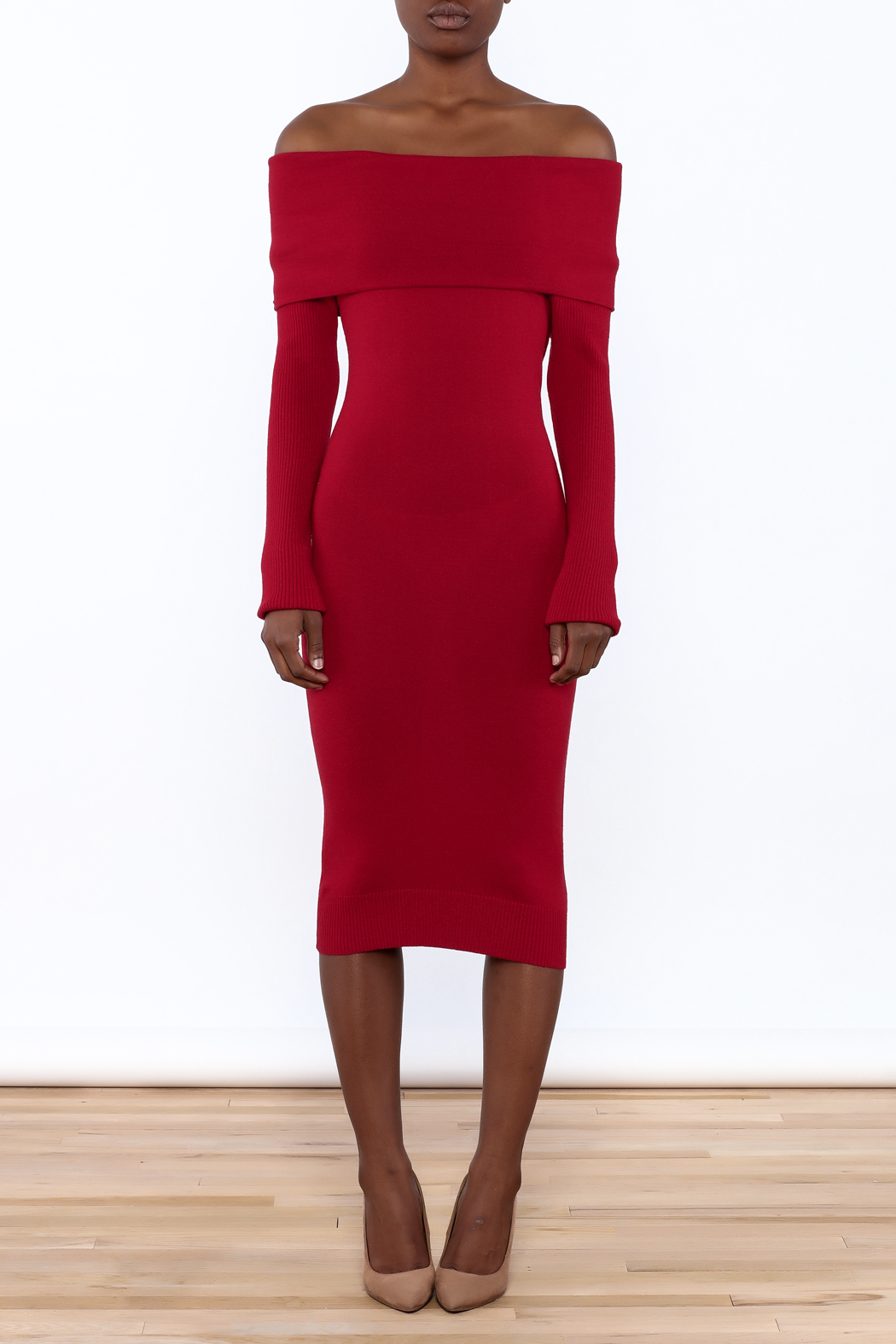 Mak Sweater Off The Shoulder Sweater Dress from New Jersey by Mint ...