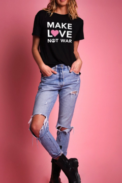 LA Trading Co. Make Love Not War Black Tee - Product List Image