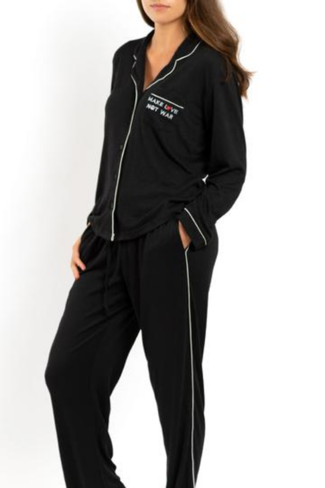 Los Angeles Trading Co.  Make Love Not War - Luxe PJ Set - Main Image