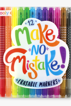 Ooly Make No Mistake Erasable Markers - Alternate List Image