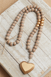 The Birch Tree Make Peace Wood Beads - Front cropped