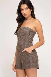 She and Sky Make The Moment Romper - Front full body