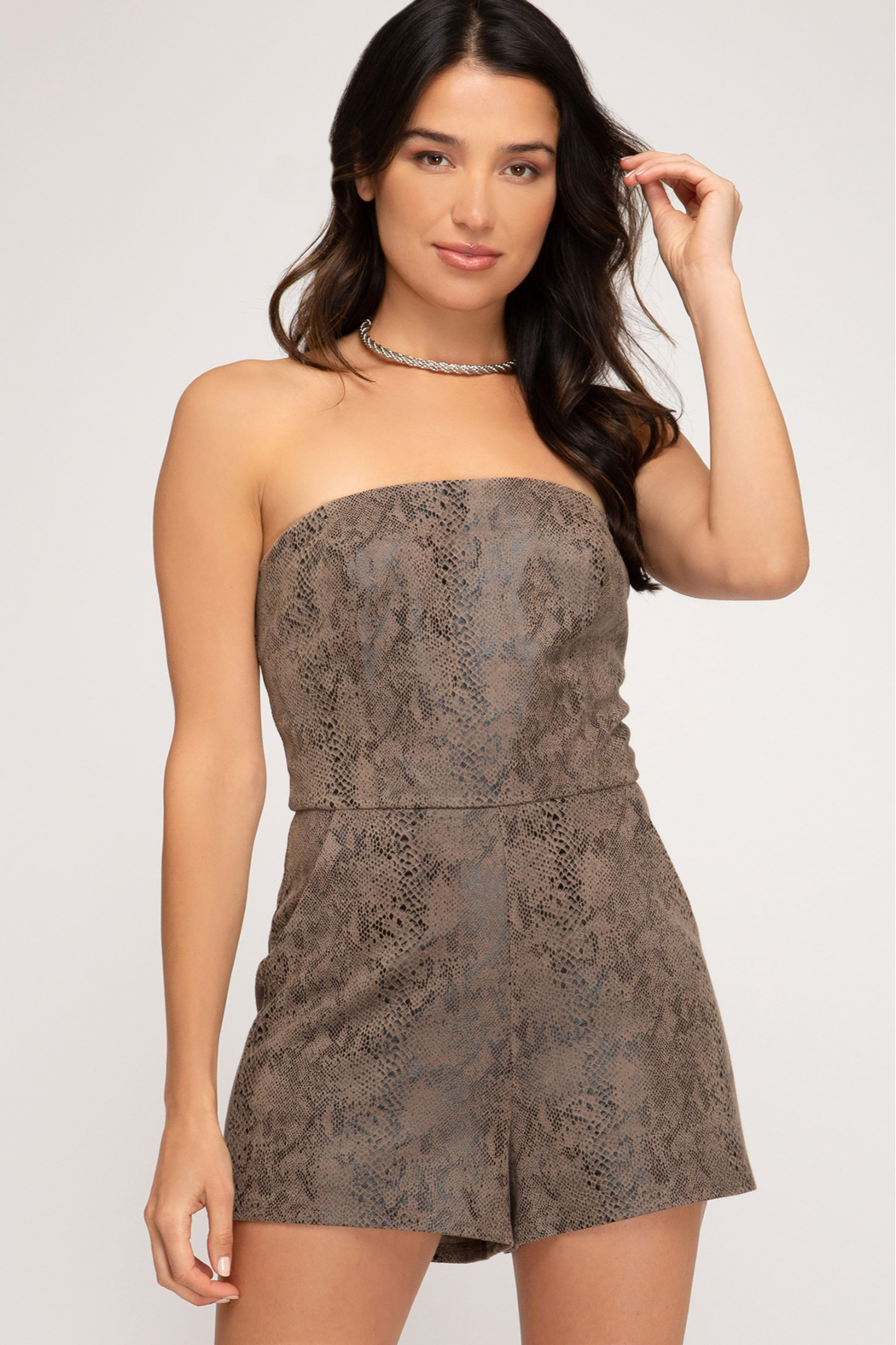 She and Sky Make The Moment Romper - Front Cropped Image
