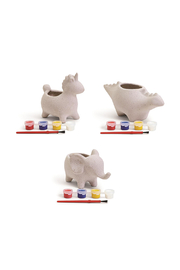 Cupcakes & Cartwheels Make Your Own Animal Planter - Front cropped