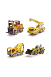 Cupcakes & Cartwheels Make Your Own Construction Vehicle 3D Puzzle - Product Mini Image