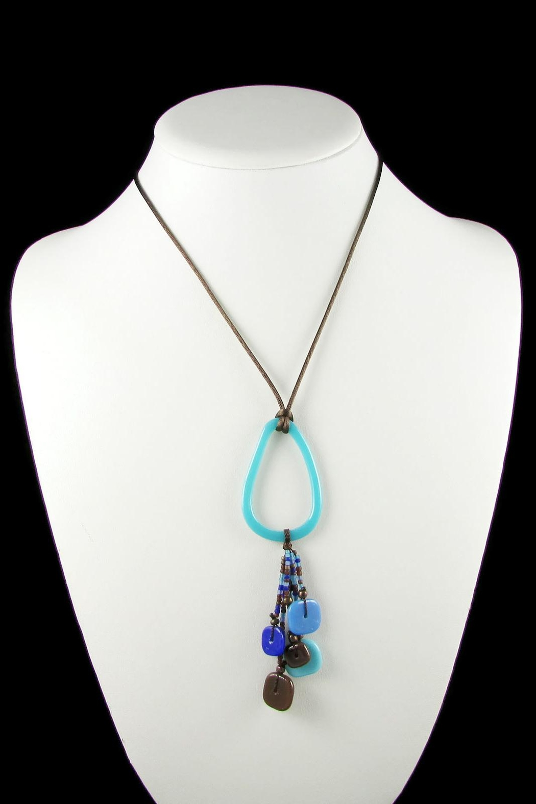 Maku Chaquiras Glass Necklace - Front Full Image