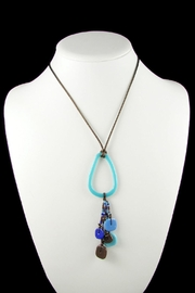 Maku Chaquiras Glass Necklace - Front full body