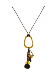 Maku Chaquiras Glass Necklace - Front cropped