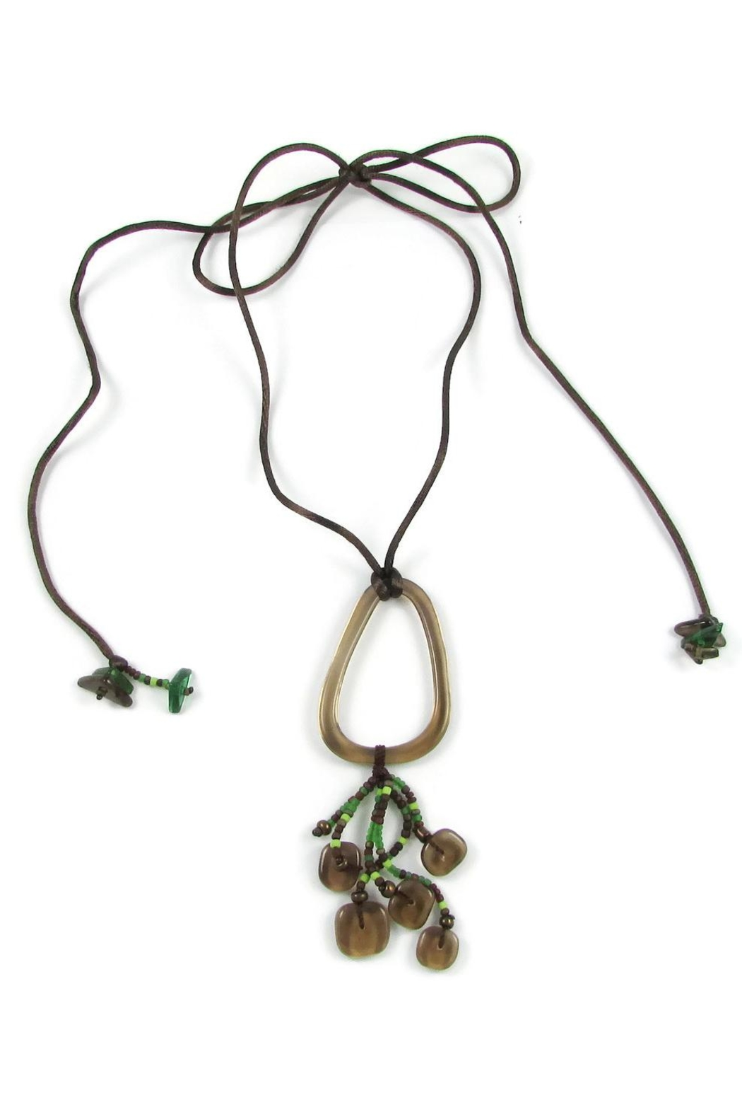Maku Chaquiras Glass Necklace - Back Cropped Image