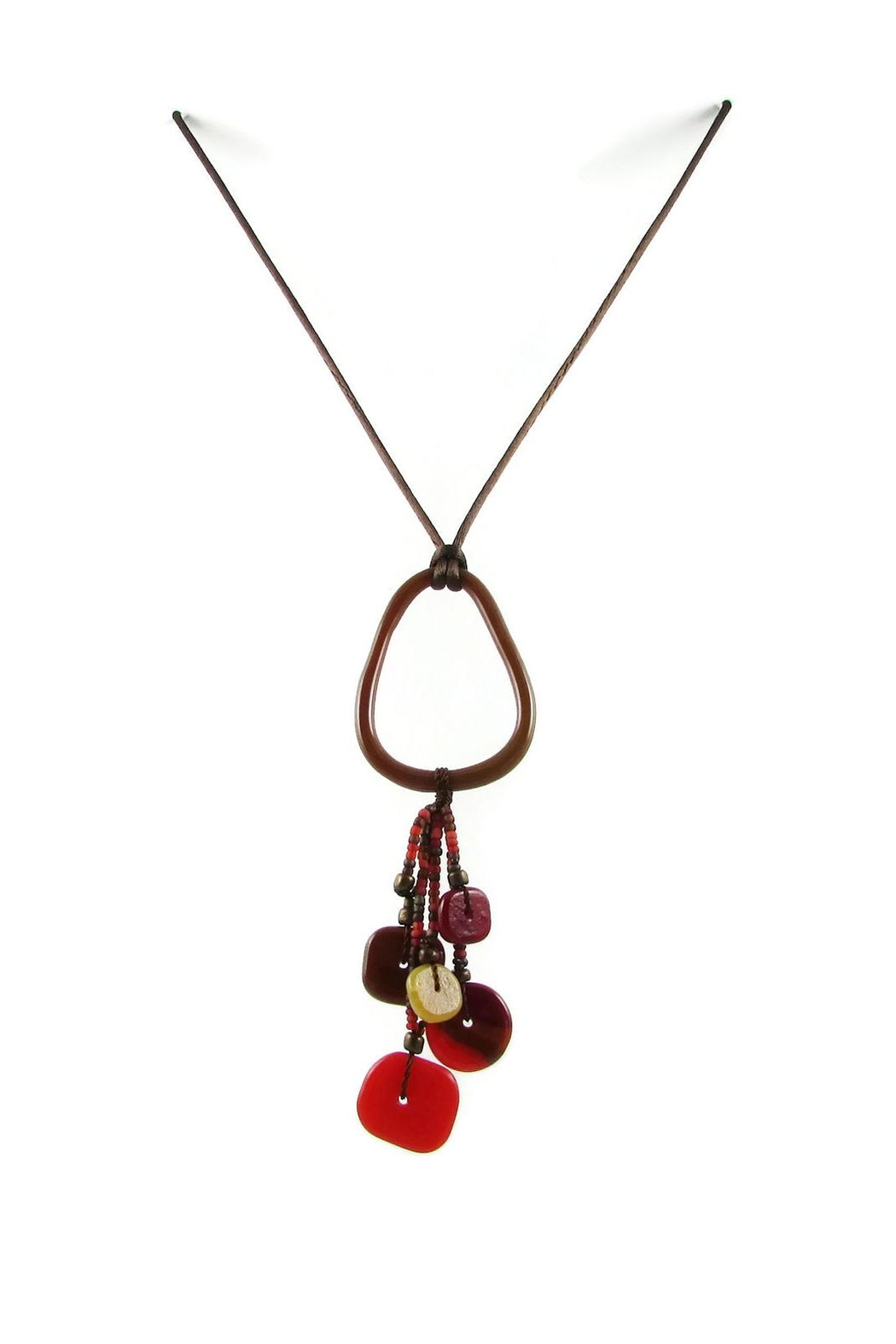 Maku Chaquiras Glass Necklace - Front Cropped Image