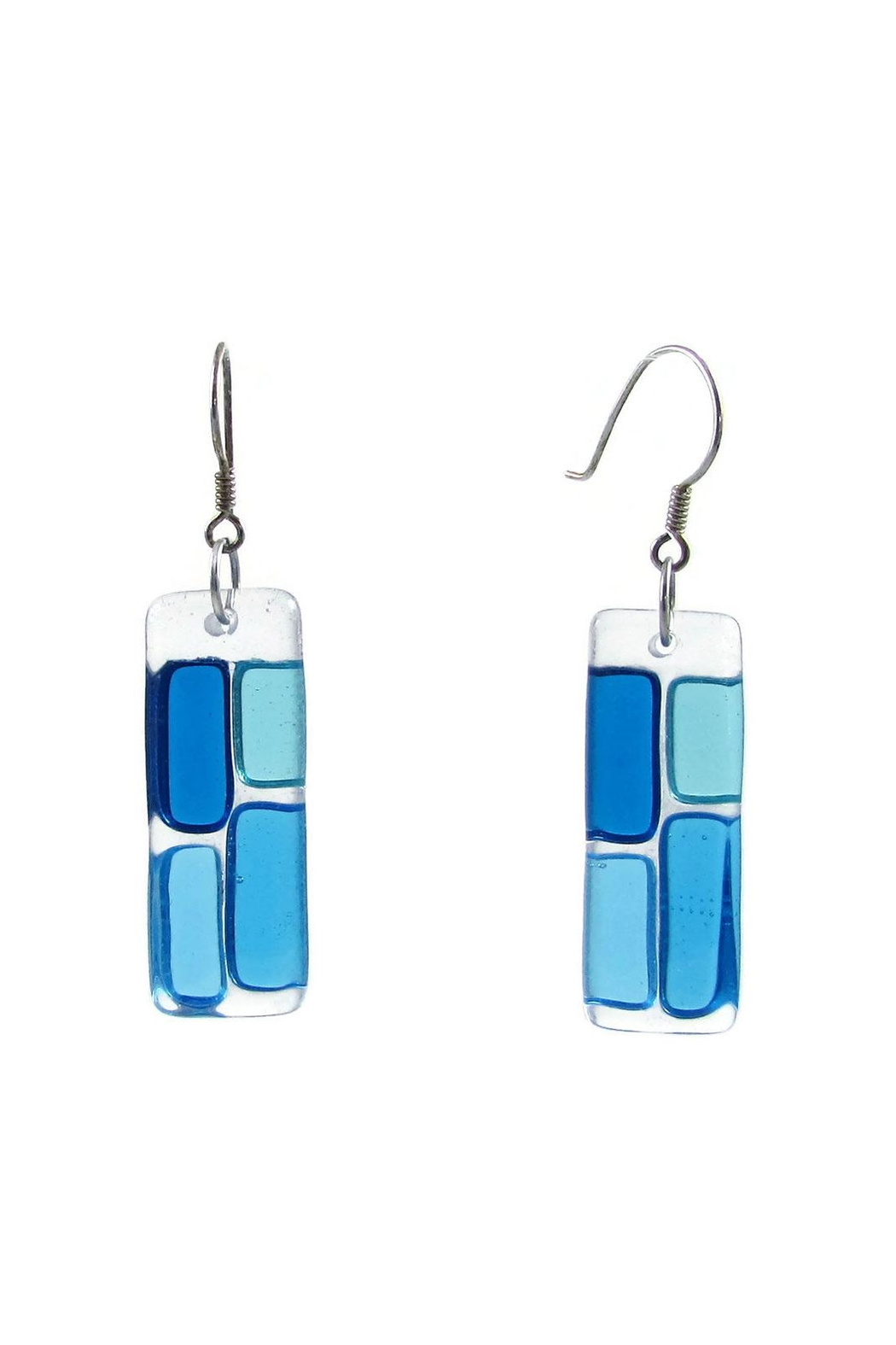Maku Cobblestones Glass Earrings - Front Cropped Image