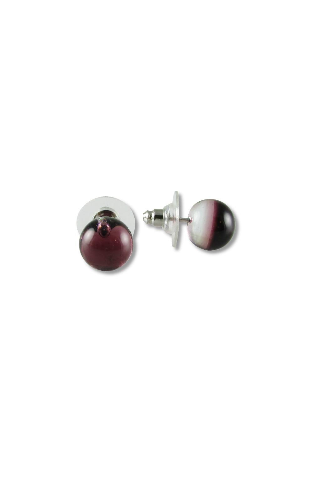 Maku Glass Ball Studs - Back Cropped Image