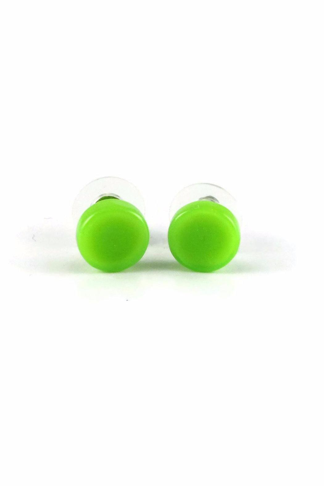 Maku Glass Circle Studs - Front Cropped Image