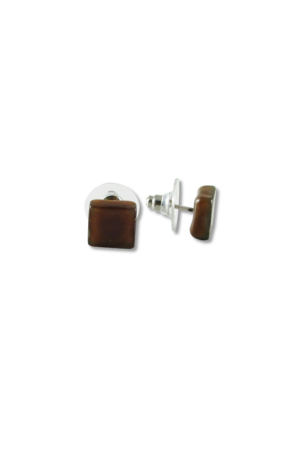 Maku Glass Square Studs - Main Image