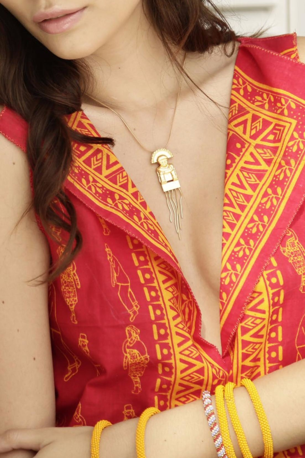 Makua Jewelry Mini Chaman Necklace - Front Cropped Image