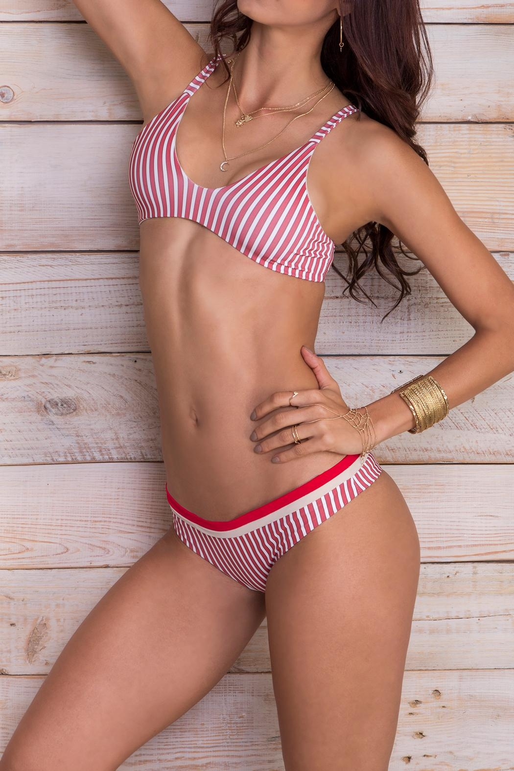 fdca8847f89 Maylana Swimwear Maky Redstripes Top from Florida by The Orchid ...