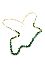 Wild Lilies Jewelry  Malachite Beaded Necklace - Front full body