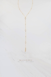 MALANDRA Jewelry Crystal Y Necklace - Product Mini Image